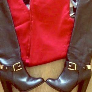 ALDO BRANTINGHAM Boots Size 9 Black gold detail